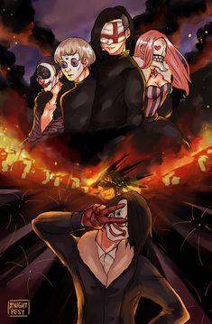 Celui qui rit au final c est le Pierrot ! Tokyo Ghoul Uta, Tokyo Ghoul Manga, Kaneki, Manhwa, Manga Anime, Anime Art, Dark Drawings, Deadman Wonderland, Fanart