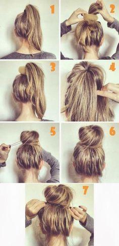 hair hair hacks 10 Easy And Cute Hair Tutorial Messy Bun Hairstyles, Pretty Hairstyles, Hairstyle Ideas, Hairstyle Tutorials, Romantic Hairstyles, Stylish Hairstyles, Perfect Hairstyle, Bun Updo, Messy Updo