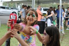 Kids get SO happy to see themselves in a mirror after getting Face Painted by Best Party Planner!