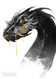 Smaug... that's creepy, but it was pretty cool when he was covered in gold.