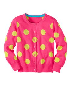 This Pink Garden Polka Dot Cardigan - Infant, Toddler & Girls by Hanna Andersson is perfect! #zulilyfinds
