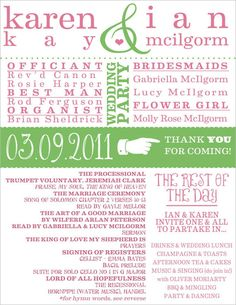 30 Wedding Program Design Ideas To Guide Your Wedding Guests – Part V