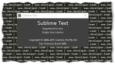 Sublime Text 3 Build 3095 Unlimited User License Retail
