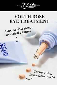 """Instantly smooth and brighten with our anti-aging eye cream with Pro-Retinol. Use this eye cream morning and night and give your eyes a """"youth dose. Anti Aging Eye Cream, Anti Aging Facial, Facial Serum, Anti Aging Skin Care, Skin Care Regimen, Skin Care Tips, Organic Skin Care, Natural Skin Care, Skin Md"""