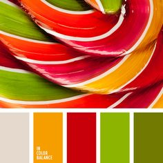 gold red lime green bright bold striking colour palette scheme