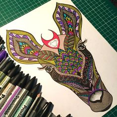 Magic roe deer illustration