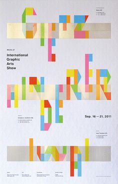 Typography / Typography for Design  Works of International Graphic Arts Show