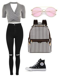 """""""Untitled #2"""" by brigike-toth on Polyvore featuring Topshop, Converse and Henri Bendel"""