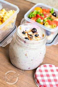 LunchBox - przepisy na cały tydzień I - Kasia. Healthy Snacks, Healthy Recipes, Granola, Meal Prep, Catering, Clean Eating, Lunch Box, Health Fitness, Food And Drink