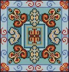 Cross Stitch Borders, Cross Stitching, Cross Stitch Patterns, Cross Stitch Cushion, Crochet Square Patterns, Cross Stitch Pictures, Needlepoint Pillows, Pin Cushions, Beaded Embroidery