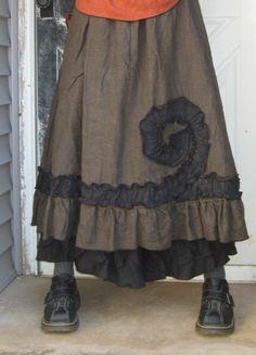 Ruffle Swirl Skirt by sarahclemensclothing on Etsy, $99.00