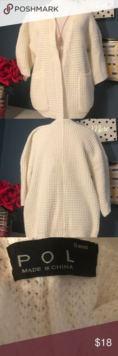 """POL designer sweater NEW 💋 New without tags. One size fits most. Good for people who measure no more then 44"""" bust pol Sweaters Cardigans"""