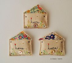 hens teeth: New work.Brooches.Where the heart is. X