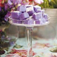 Lavender turkish delight/Turkse lekkers met laventel