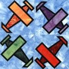 Stained Glass Airplane Quilt Block Pattern