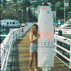 Limited Edition Surfboard Bag | For soul surfers and their surfboards, this American made limited edition piece is the perfect gift to give, get, or keep! Durable canvas base with Free People statement design and toggle closure.  Chapman at Sea