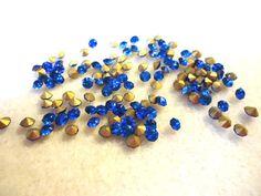 Vintage Glass Vibrant Sapphire Blue colour by JEDJewellerySupplies, £2.99