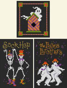 Halloweenies - Cross Stitch Pattern