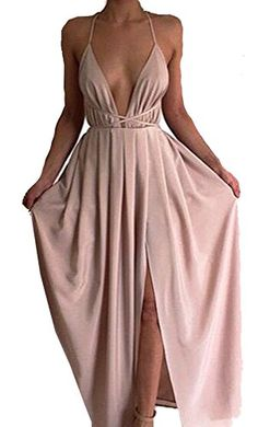 Missord Women Deep V Summer Slit Maxi Dress with Strap for Prom Party X-Small Light Pink Missord http://www.amazon.com/dp/B012QULXLG/ref=cm_sw_r_pi_dp_1JyIwb1J52ASF
