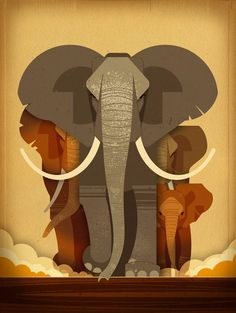 Elephant Stampede  -  Dieter Braun