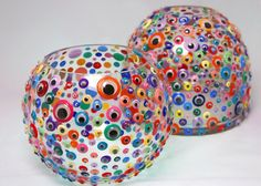 Artist Cindy Taylor. Vases with Googly Eyes. #crafts #googly_eyes #vases #cindy_taylor