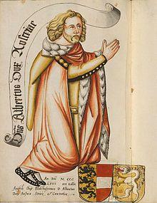 Albrecht II. von Österreich (* 12. Dezember 1298 auf der Habsburg (Aargau); † 16. August 1358 in Wien, er wurde bestattet in der von ihm gestifteten Kartause Gaming; genannt der Weise oder Lahme) war Herzog von Österreich.