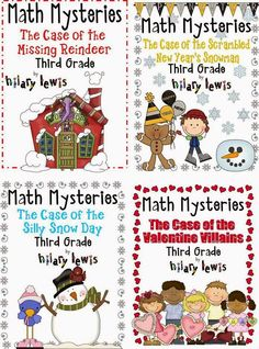 Get your graders practicing math skills without even knowing they are learning! These math mysteries are similar to the 'choose your own adventures' books of old. only kids have to figure out the answer to continue through the story! Second Grade Math, First Grade Math, Grade 2, Math Resources, Math Activities, Math Games, Winter Activities, Daily 5 Math, Math Lessons