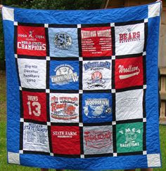 T-shirt Quilt -Made to Order-Double Sashing (16 Blocks) | Shirt ... : order t shirt quilt - Adamdwight.com