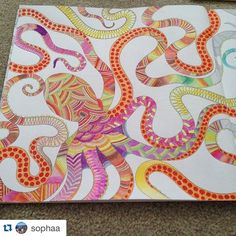 Octopus Page Of Animal Kingdom By Millie Marotta Big People Color