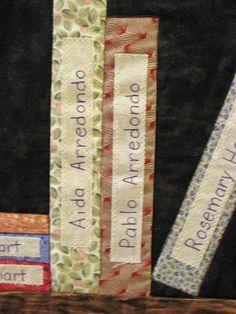 Library Quilt Detail by ellenmac11, via Flickr