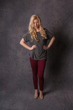 Athleisure Sweatshirt Tee-$68 On trend with one of this season's biggest looks: Athleisure!