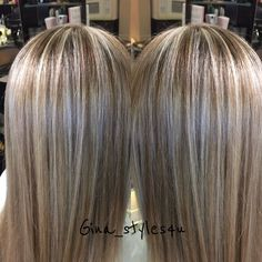 fall hair Blonde highlights and chocolate golden lowlights soft shineyhair smooth straight long blonde hair fall color for blondes