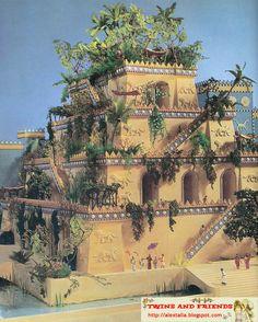 17 jardines colgante de Babilonia