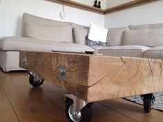 Eiken salontafel gemaakt door brood & plank
