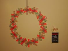 Little Hiccups: Washi Tape wall Christmas Decorations