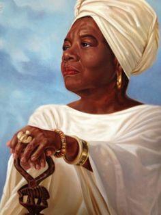 Maya Angelou Artist Henry Lee Battle