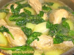 Filipino Tinolang Manok (the most basic -- the one I use -- version I've seen to date)