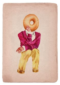 Some days all I can think of are sweet sweet donuts of happiness (by Little Doodles) Food Illustrations, Illustration Art, Food Graphic Design, Food Design, Little Doodles, Letterpress Invitations, Gcse Art, Photo Colour, Altered Books