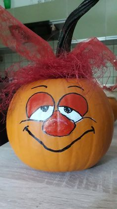 Christa Mey Diy Pumpkin, Pumpkin Ideas, Pumpkin Carving, Halloween Pumpkins, Halloween Crafts, Fall Crafts, Crafts For Kids, Pumpkin Faces, Painted Pumpkins