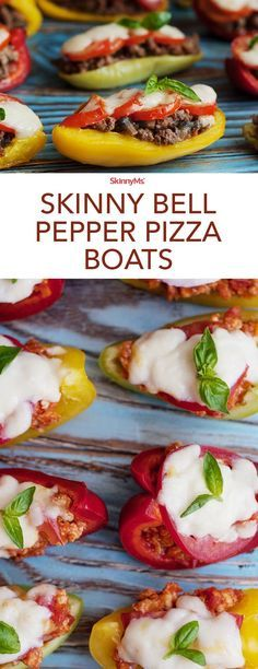 Switch up your typical pizza recipe and make a batch of low-carb Skinny Bell Pepper Pizza Boats instead!