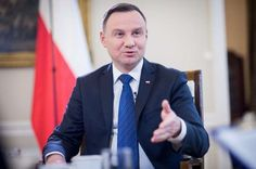 President Donald Trump's visit to Warsaw strengthens Poland's position in the European Union, Polish President Andrzej Duda said on Thursday. Show Us, Warsaw, Cali, Donald Trump, Presidents, Suit Jacket, Positivity, Country, Self