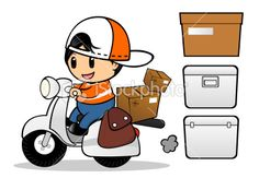 stock-illustration-21934747-messenger-delivery-and-scooter.jpg (380×264)
