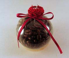 will be making these if i can find mini clear balls - for the coffee station