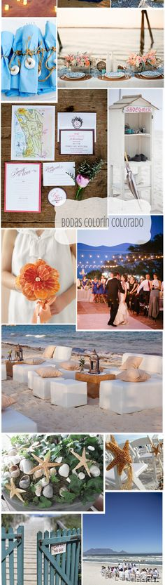 - Bodas Colorín Colorado -: - Bodas en la Playa 1ª parte.   Beach wedding inspiration