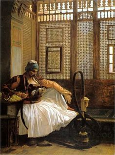Arnautm Smoking - Jean-Leon Gerome