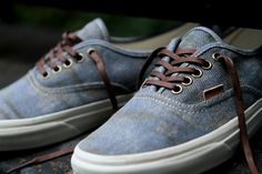 """waxed lace love    Vans California Authentic CA """"Stained"""" Olive & Light Blue @ Kith NYC"""