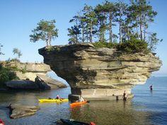 Kayak & Paddle Board to Turnip Rock in Port Austin, Michigan