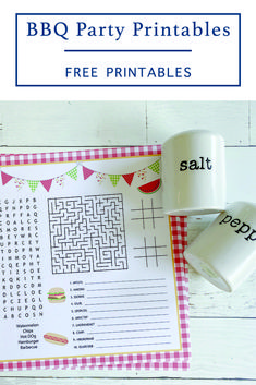 Download this fun Printable BBQ Party Activity Sheet from Everyday Party Magazine for BBQ Parties, summer fun activities and more! #BBQPartyPrintables #BBQPartyIdeas