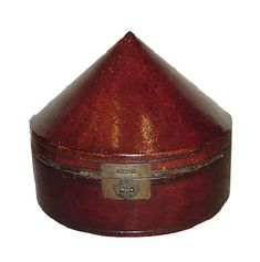 antique chinese furniture - Leather hatbox.