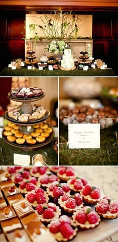 Woodland wedding dessert table #woodland #wedding #dessert #desserttable #weddingdessert